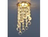 Точечный встраиваемый светильник Elektrostandard 205C C GD/WH (модерн, золото-прозрачный)