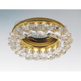Точечный встраиваемый светильник Lightstar 030302 Onora cr (модерн, золото)
