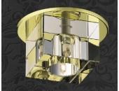 Точечный встраиваемый светильник Novotech 369261 Cubic (модерн, золото)
