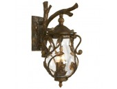 Уличный настенный светильник L`Arte Luce L73582.97 Florida (флористика, коричневый)