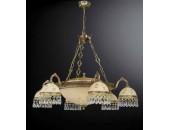 Люстра подвесная Reccagni Angelo L 6306/6+4 (классический, золото)