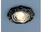 Точечный встраиваемый светильник Elektrostandard 2040 BK/SL (модерн, черный-серебро)