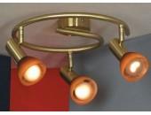 Светильник спот Lussole LSQ-4197-03 Leggero (хай-тек, золото)