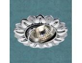 Точечный встраиваемый светильник Novotech 369821 Flower (модерн, хром)