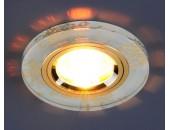Точечный встраиваемый светильник Elektrostandard 8561/6 WH/GD (модерн, белый-золото)