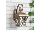 Уличный настенный светильник Elektrostandard Cassiopeya D (классический, черное золото)