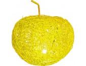 Настольная лампа яблоко Snowlight 2500093/1TY (ротанг, желтый)