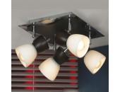 Светильник спот Lussole LSL-8201-04 Messina (хай-тек, венге)