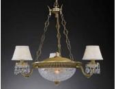 Люстра подвесная Reccagni Angelo L 6403/3+3 (классический, бронза)