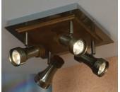 Светильник спот Lussole Novara LSL-7101-04 (бронза)