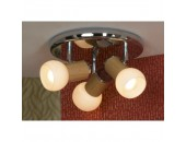 Светильник спот Lussole Saltara LSN-6007-03 (модерн, хром)