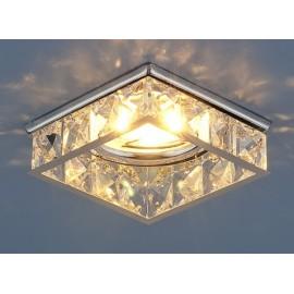 Точечный встраиваемый светильник Elektrostandard 7274 CH/CL (модерн, хром-прозрачный)