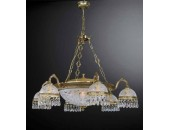 Люстра подвесная Reccagni Angelo L 6300/6+4 (классический, золото)