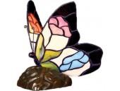 Настольная лампа бабочка Snowlight 1300544/1T (тиффани, бронза)