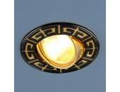 Точечный встраиваемый светильник Elektrostandard 120090 GU/GD (модерн, черный-золото)