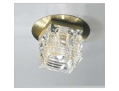 Светильник точечный встраиваемый Lussole LSA-7919-01 Pelinuro (хай-тек, золото)