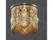 Точечный встраиваемый светильник Novotech 369681 Forged (модерн, золото)