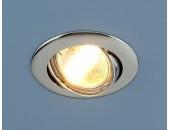 Точечный встраиваемый светильник Elektrostandard 104S CH (модерн, хром)
